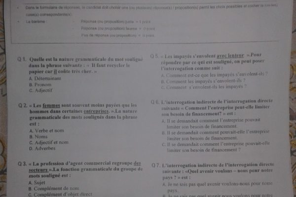 langue et terminologie s1 qcm 2