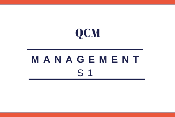 management S1 QCM