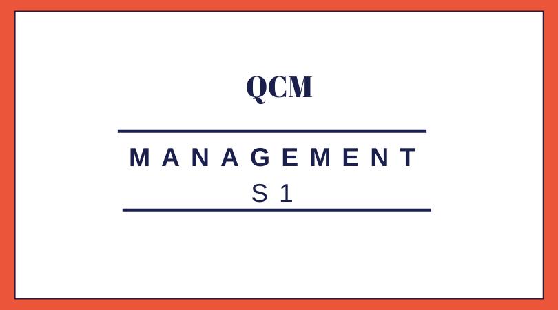management S1 QCM