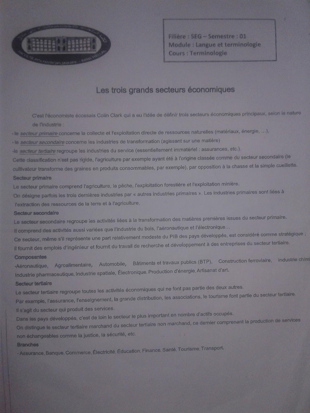 exercices de langues la phrase interrogative 1er partie, destinés aux étudiants de la 1ère année de licence en économie et gestion.