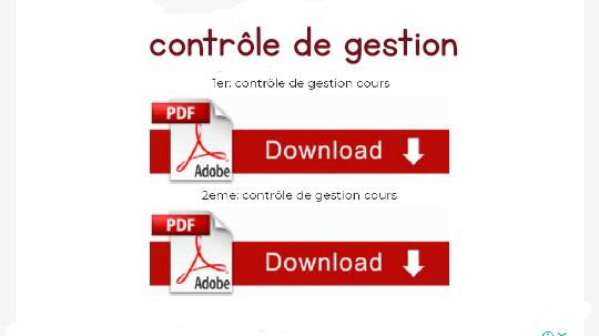 contrôle de gestion cours en pdf iscae s6