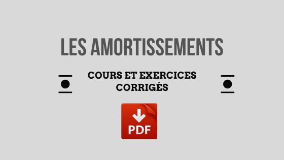 amortissement comptable exercice corrigé pdf