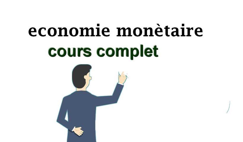 économie monétaire S3 cours