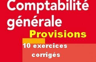 exercices corrigés provisions-338x221