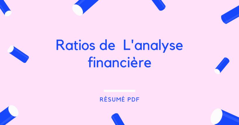 Ratios de L'analyse de la situation de l'Entreprise (1)