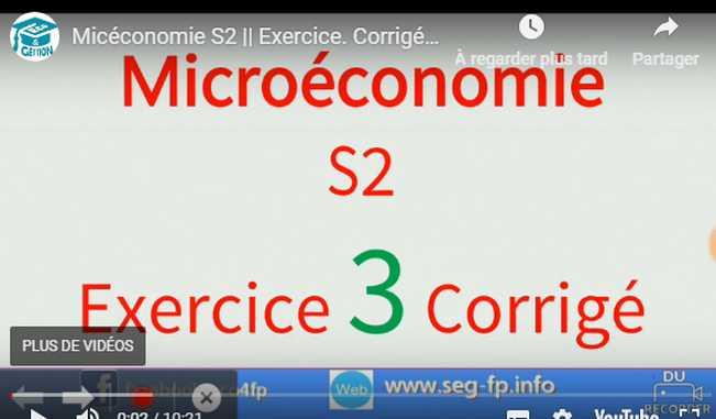 fonction Cobb-Douglass microeconomie s2