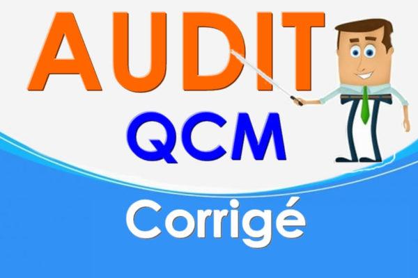 qcm corrigé en audit