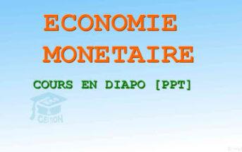 économie monétaire cours