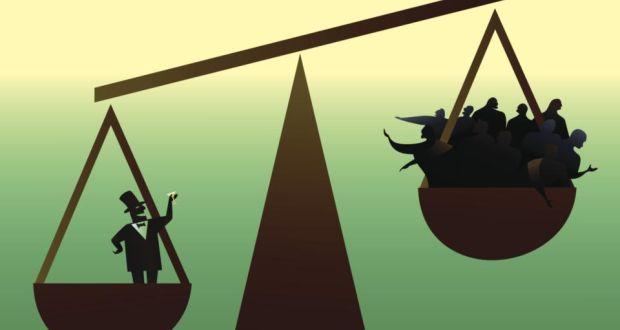 l'écart entre les riches et les pauvres