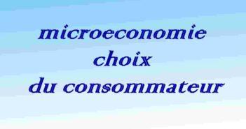 microeconomie s1 : consommateur