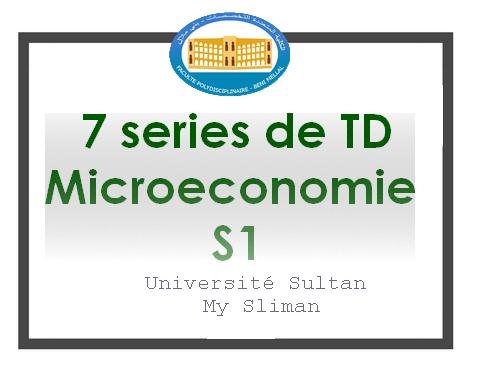 microeconomie S1