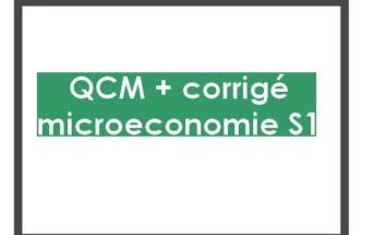microéconomie s1 qcm corrigés