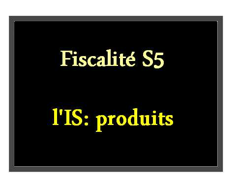 fiscalité S5 IS
