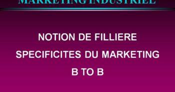 marketing b2b Notion de filière