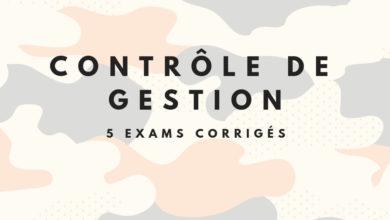 5 examens corrigés contrôle de gestion pdf