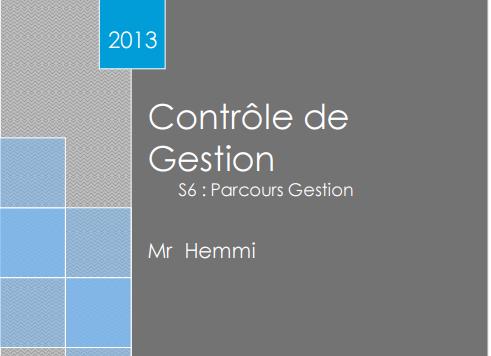 contrôle de gestion s6