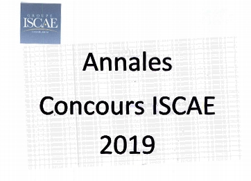 annales concours ISCAE