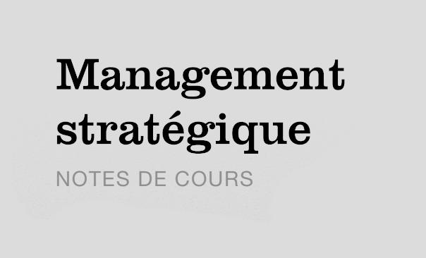 management stratégique cours