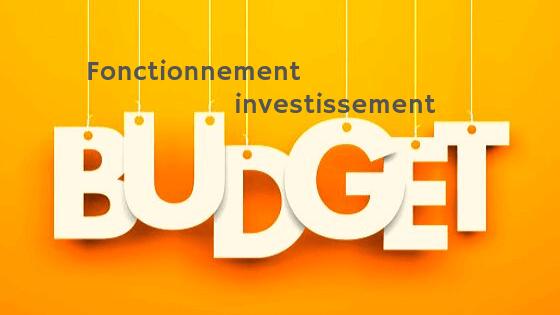 Budget fonctionnement et investissement