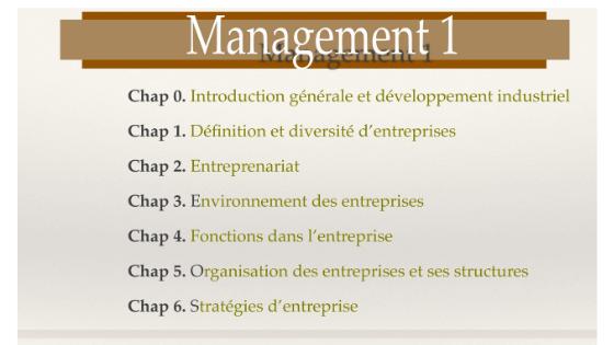 Cours de Management S1 PDF [diapo]