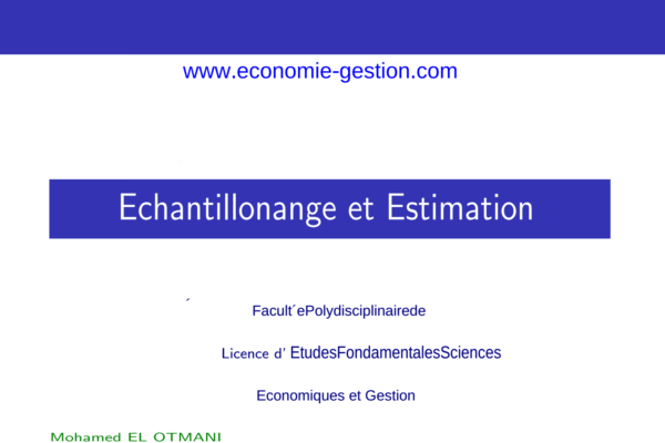 cours complet échantillonnage et estimation S3 pdf