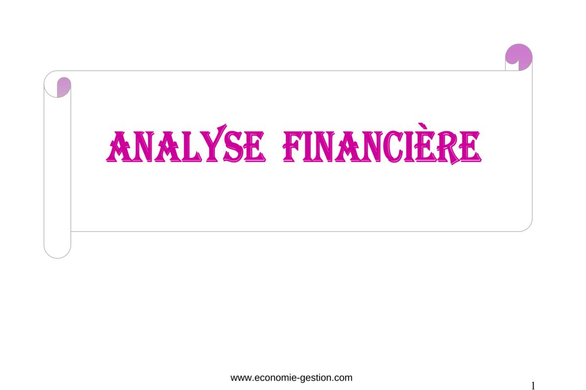cours complet d'analyse financière pdf