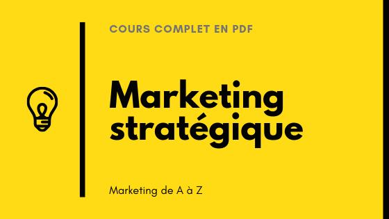 cours de marketing stratégique pdf