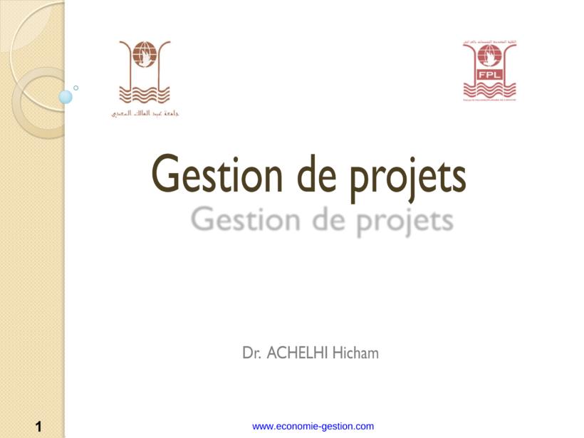 gestion de projet cours complet pdf