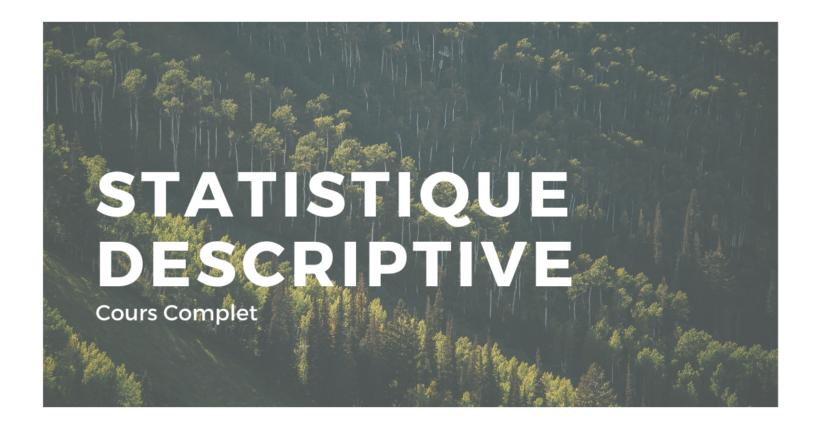 introduction à la statistique descriptive cours