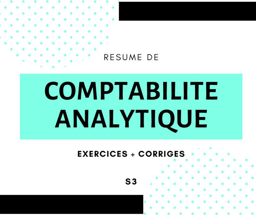 résumé comptabilité analytique + exercices corrigés