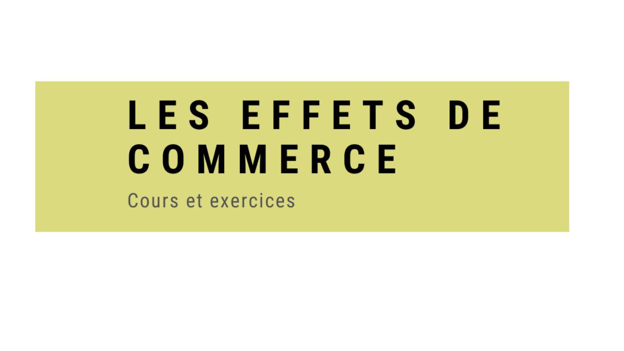 Effets De Commerce Cours Et Exercices Pdf Economie Et Gestion