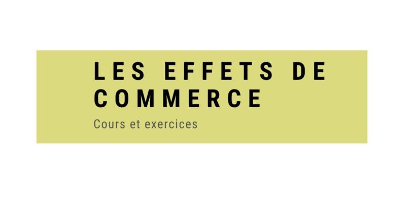 effets de commerce cours et exercices PDF