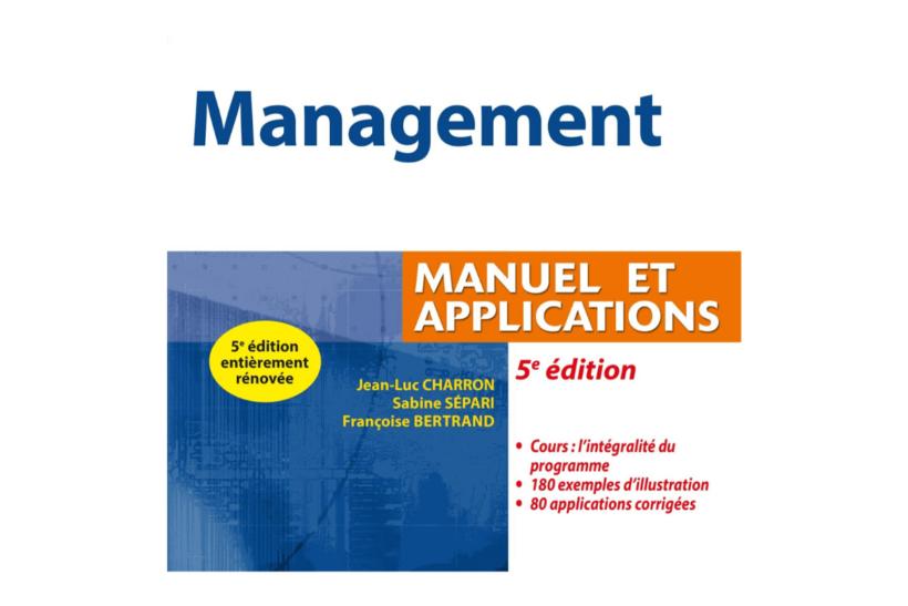 livre de Management exercices corrigés PDF