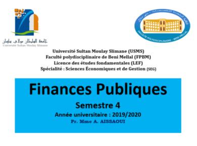finance publique s4 cours complet