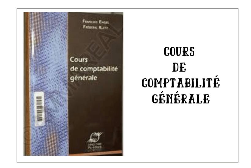 COURS DE COMPTABILITÉ GÉNÉRALE PDF